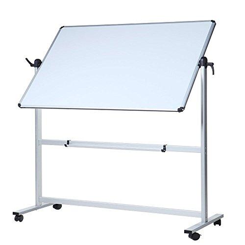 VIZ-PRO Mobiles Whiteboard/Doppelseitige Whiteboard- mit Alurahmen, magnetisch - 110 x 75 cm