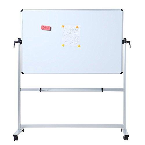 VIZ-PRO Mobiles Whiteboard/Doppelseitige Whiteboard- mit Alurahmen, magnetisch – 110 x 75 cm - 2