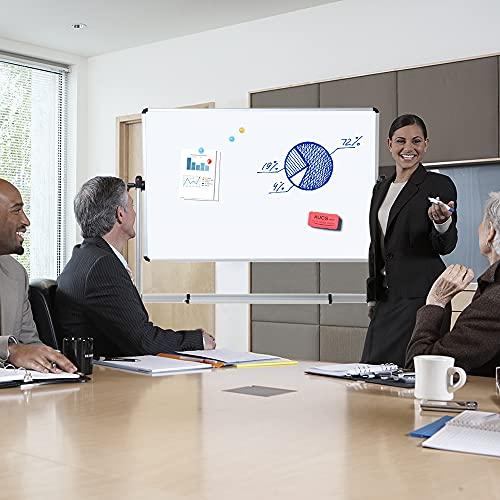VIZ-PRO Mobiles Whiteboard/Doppelseitige Whiteboard- mit Alurahmen, magnetisch – 110 x 75 cm - 5