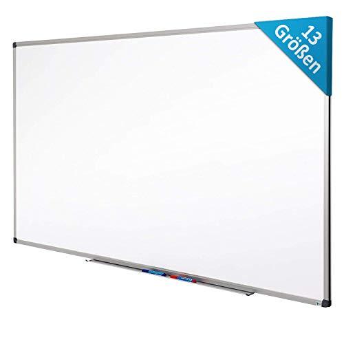 MOB Whiteboard - Sieger Preis-Leistung (Note 1,4) - 13 Größen - magnetisch und beschreibbar - Magnettafel Magnetwand - mit Aluminium-Rahmen, Stiftablage - für Hoch- und Querformat - 90 x 120 cm