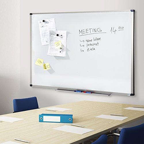 MOB Whiteboard Economy   Testnote 1,5   schutzlackierte Magnettafel beschreibbar – im stabilen Alurahmen   als Magnetwand, Memoboard – 90x120cm - 3