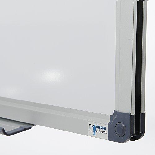MOB Whiteboard Economy   Testnote 1,5   schutzlackierte Magnettafel beschreibbar – im stabilen Alurahmen   als Magnetwand, Memoboard – 90x120cm - 2