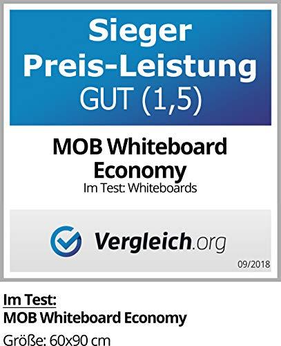 MOB Whiteboard Economy   Testnote 1,5   schutzlackierte Magnettafel beschreibbar – im stabilen Alurahmen   als Magnetwand, Memoboard – 90x120cm - 4
