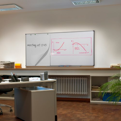 MOB Profi-Whiteboard Magnettafel – 120x90cm – emailliert, Alurahmen, magnetisch – für Büro, Gewerbe und Privat - 2