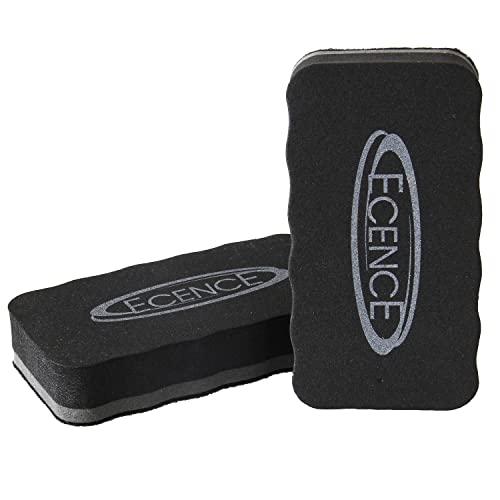ECENCE Whiteboard Schwamm 2er Set - Reinigung von Flipcharts, Magnet-Pinnwänden - Trockenreinigung metallischer Oberflächen - Gründliche Reinigung, saubere Hände - magnetische Schwämmchen 11030201