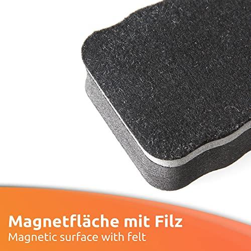 ECENCE Whiteboard Schwamm 2er Set – Reinigung von Flipcharts, Magnet-Pinnwänden – Trockenreinigung metallischer Oberflächen – Gründliche Reinigung, saubere Hände – magnetische Schwämmchen 11030201 - 2