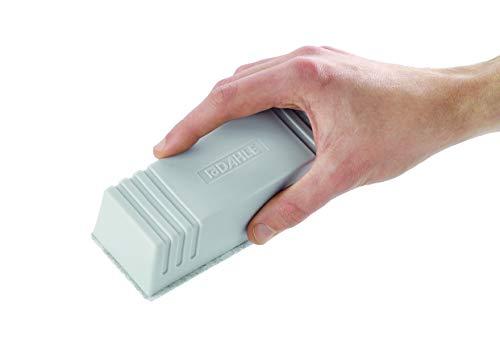 Dahle Whiteboard Löscher (Magnetischer Wischer für Trockenreinigung auf vielen Oberflächen, inkl. Filzstreifen) grau - 2