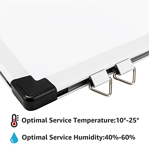 AmazonBasics Magnetisches Whiteboard mit Stiftablage und Aluminiumleisten, trocken abwischbar, 120 cm x 90 cm (B x H) - 3