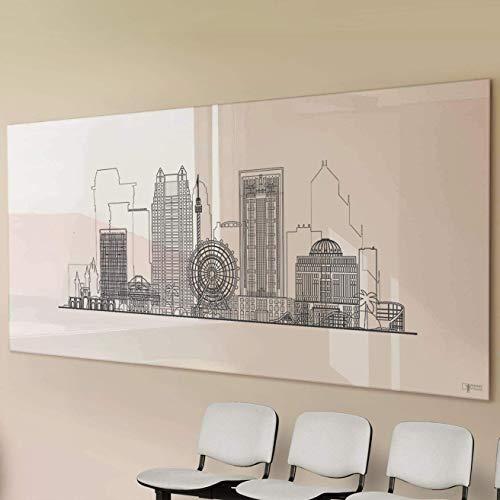 Glas-Whiteboard | Sicherheitsglas | Reinweiß | Rahmenlos | 8 Größen (120×150 cm) - 5