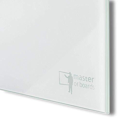 Glas-Whiteboard | Sicherheitsglas | Reinweiß | Rahmenlos | 8 Größen (120×150 cm) - 3