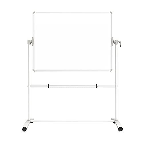 VIZ-PRO Mobile Whiteboard/Doppelseitige Whiteboard- mit magnetisch, Stahlständer - 120 x 90 cm