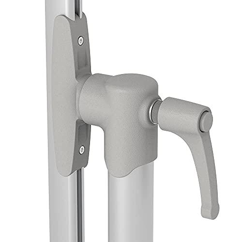VIZ-PRO Mobile Whiteboard/Doppelseitige Whiteboard- mit magnetisch, Stahlständer – 120 x 90 cm - 4