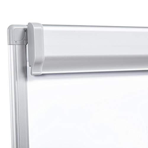 Yaheetech Flipchart Whiteboard mit Ständer magnetisch weiß für Büro verstellbar, 60 x 90 cm mit Alurahmen klappbar - 3