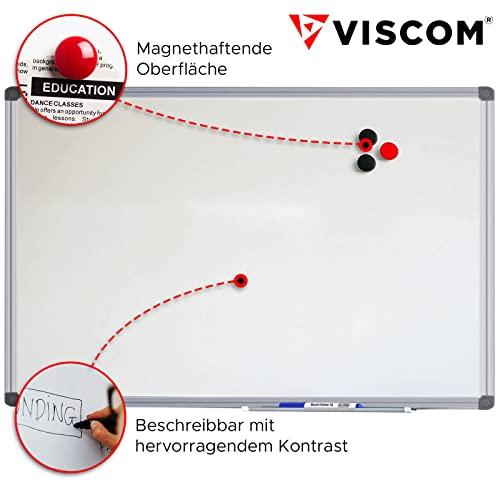 VISCOM Whiteboard – 200 x 100 cm – Magnettafel – Magnetwand mit Alurahmen, Magnetisch, Kratzfest, Beschreibbar, Weitere Größen Wählbar - 6