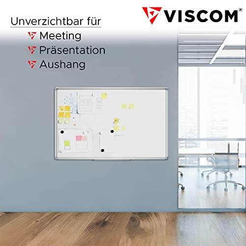 VISCOM Whiteboard – 200 x 100 cm – Magnettafel – Magnetwand mit Alurahmen, Magnetisch, Kratzfest, Beschreibbar, Weitere Größen Wählbar - 2