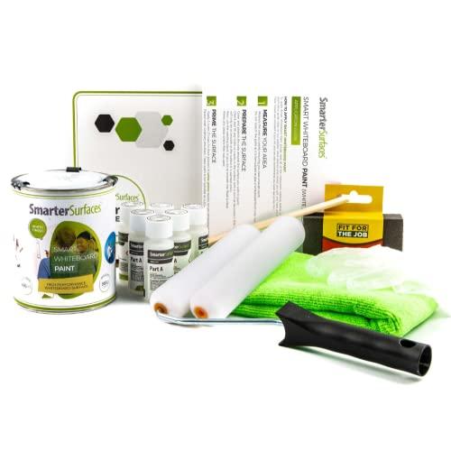 Smart Whiteboard Farbe 6m² Weiß - Whiteboard Wandfarbe - Beschreibbare Wand - Trocken Abwischbare Oberfläche für Zuhause und Büro *KOSTENLOSER EXPRESSVERSAND*