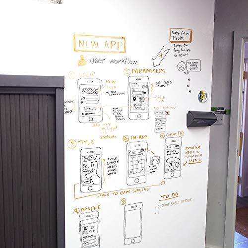 Smart Whiteboard Farbe 6m² Weiß - Whiteboard Wandfarbe - Beschreibbare Wand - Trocken Abwischbare Oberfläche für Zuhause und Büro *KOSTENLOSER EXPRESSVERSAND* - 9
