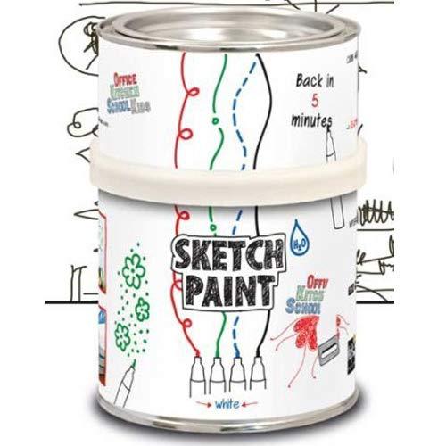 Whiteboard-Farbe 0,5 Liter beschreibbar bemalbar abwischbar - transparent - ideale Lösung für eine komplett beschreibbare und abwischbare Wand