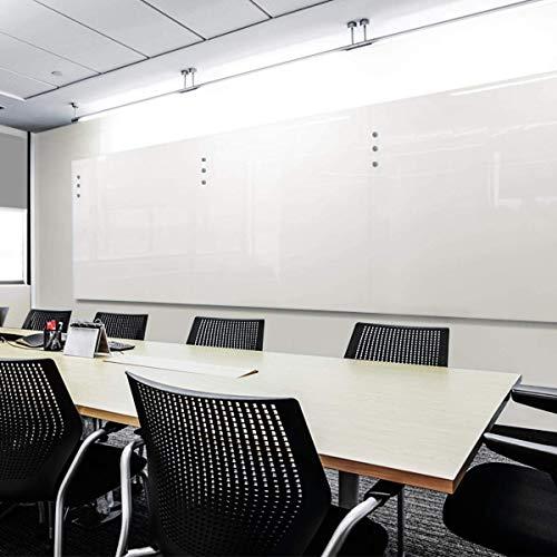 Glas-Whiteboard | Sicherheitsglas | Reinweiß | Rahmenlos | 8 Größen (120x240 cm)