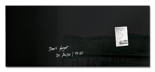 SIGEL GL240 Großes Glas-Whiteboard 130x55 cm schwarz / Premium Glas Magnettafel / Sicherheitsglas / TÜV geprüft / Magnetboard Artverum - weitere Farben/Größen