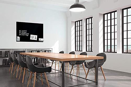 SIGEL GL240 Großes Glas-Whiteboard 130x55 cm schwarz / Premium Glas Magnettafel / Sicherheitsglas / TÜV geprüft / Magnetboard Artverum - weitere Farben/Größen - 2