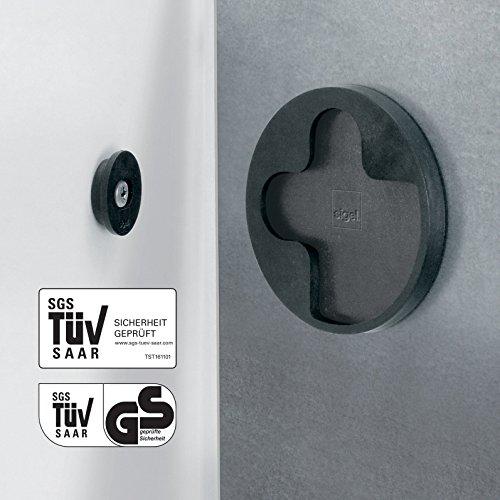 SIGEL GL240 Großes Glas-Whiteboard 130x55 cm schwarz / Premium Glas Magnettafel / Sicherheitsglas / TÜV geprüft / Magnetboard Artverum - weitere Farben/Größen - 7