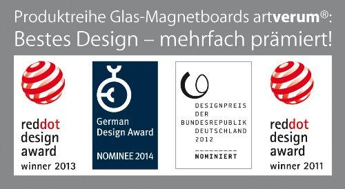SIGEL GL240 Großes Glas-Whiteboard 130x55 cm schwarz / Premium Glas Magnettafel / Sicherheitsglas / TÜV geprüft / Magnetboard Artverum - weitere Farben/Größen - 8