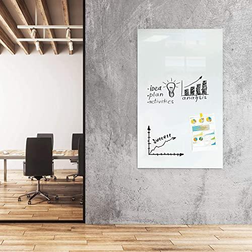 Glas-Whiteboard   Arte   Premiumweiß   Sicherheitsglas   Rahmenlos mit Schwebe-Effekt   Magnethaftend (120 x 180 cm) - 2
