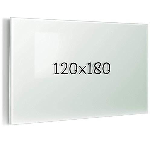 Glas-Whiteboard   Sicherheitsglas   Reinweiß   Rahmenlos   8 Größen (120x180 cm) - 6