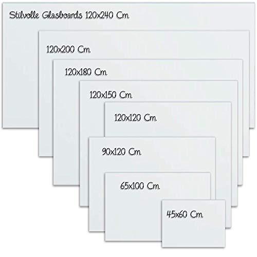 Glas-Whiteboard   Sicherheitsglas   Reinweiß   Rahmenlos   8 Größen (120x180 cm) - 7