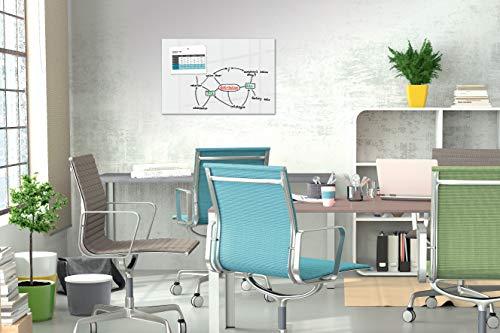 Be!Board B1300 Große Glas-Magnettafel / Whiteboard rein-weiß, 90 x 60 cm - 4
