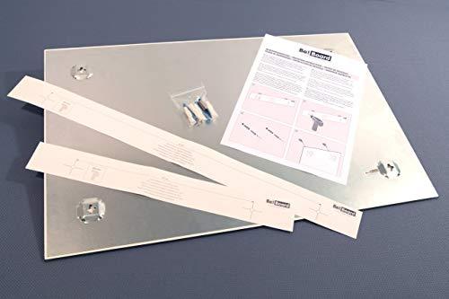 Be!Board B1300 Große Glas-Magnettafel / Whiteboard rein-weiß, 90 x 60 cm - 5