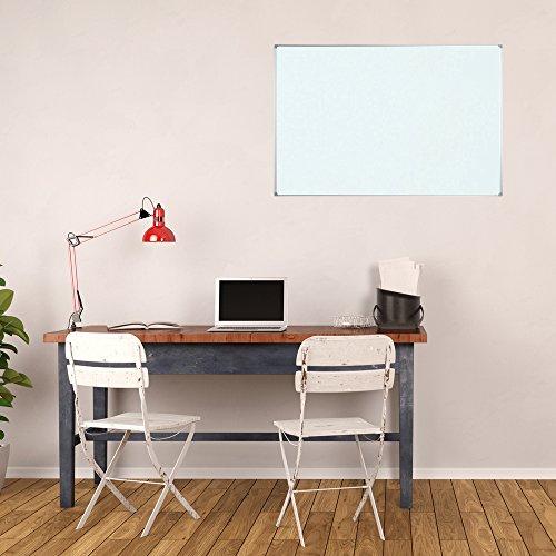 Lockways Whiteboard - Magnetisch Stabiler Tafel - praktische Weißtafel 90 x 120 cm, silbrig Metall Rahmen für Schule, Wohnung und Büro - 4