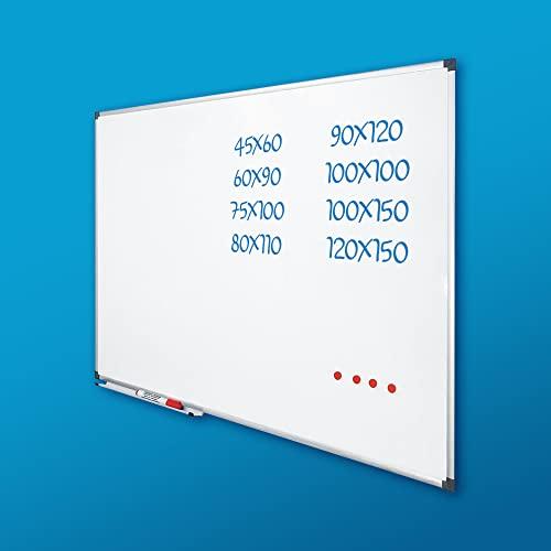 Vivol Eco Magnetic Whiteboard 100x150   Aluminium Rahmen   Magnettafel Whiteboardwand Magnetwand   Stiftablage   14 Größen   Magnetisch und Beschreibbar - 2