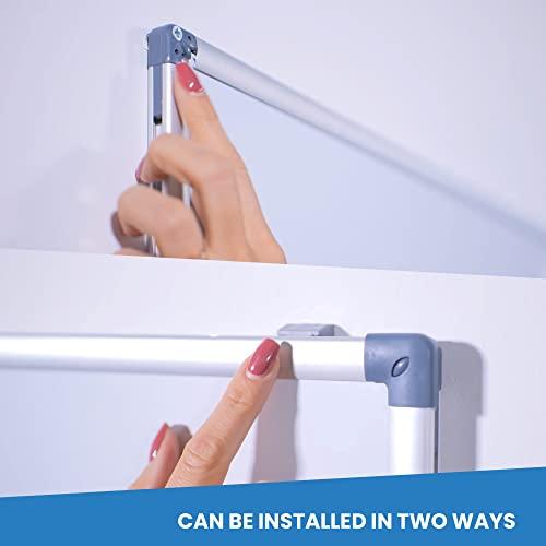 Vivol Eco Magnetic Whiteboard 100x150   Aluminium Rahmen   Magnettafel Whiteboardwand Magnetwand   Stiftablage   14 Größen   Magnetisch und Beschreibbar - 3