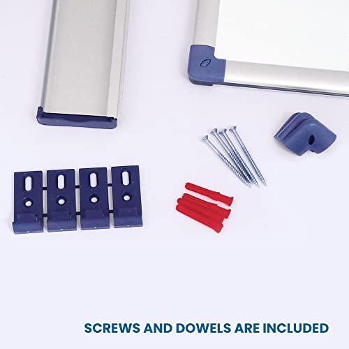 Vivol Eco Magnetic Whiteboard 100x150   Aluminium Rahmen   Magnettafel Whiteboardwand Magnetwand   Stiftablage   14 Größen   Magnetisch und Beschreibbar - 6