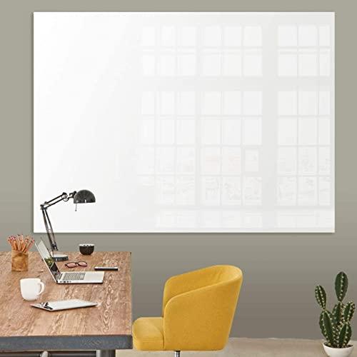 Premium Glas-Magnettafel beschreibbar | TÜV-geprüft | Whiteboard rahmenlos mit Schwebe-Effekt | Pinnwand magnetisch aus Sicherheitsglas | 7 Größen (60 x 90 cm)