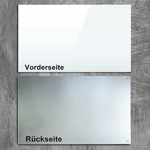 Premium Glas-Magnettafel beschreibbar   TÜV-geprüft   Whiteboard rahmenlos mit Schwebe-Effekt   Pinnwand magnetisch aus Sicherheitsglas   7 Größen (60 x 90 cm) - 7