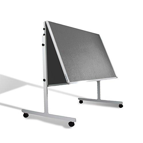 Moderationstafel Filz | klappbar | mit Rollen | 120x150cm | Farbe wählbar (grau) - 3