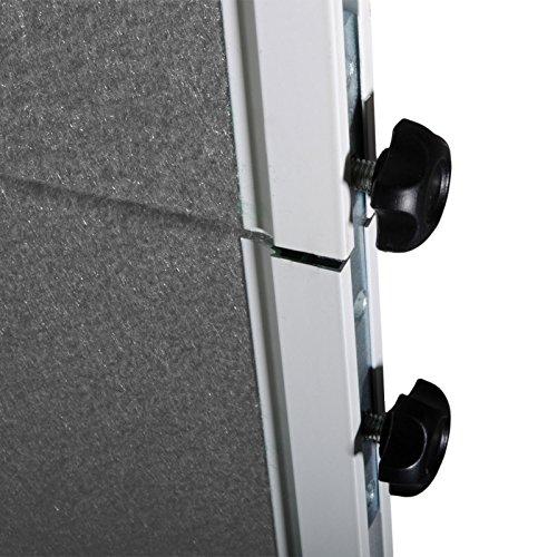 Moderationstafel Filz | klappbar | mit Rollen | 120x150cm | Farbe wählbar (grau) - 4