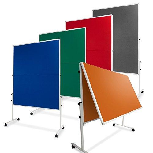 Moderationstafel Filz | klappbar | mit Rollen | 120x150cm | Farbe wählbar (grau) - 7