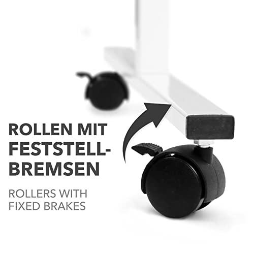 Moderationstafel Filz | doppelseitig | mit Rollen | Höhe: 185 cm | Farbe wählbar (grau) - 4