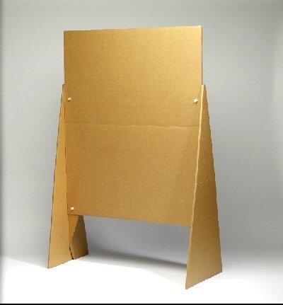 Moderationstafel Pappe 120 x 150 cm, klappbar, Kunststoffschrauben